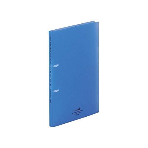 リヒトラブ リングファイル A4 2穴 薄型タイプ 青 F5000-8
