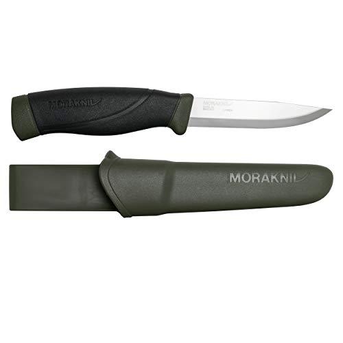 Morakniv Companion Heavy Duty Knife with Sandvik Carbon Steel Blade, 0.125/4.1-Inch, Military Green (M-12494)