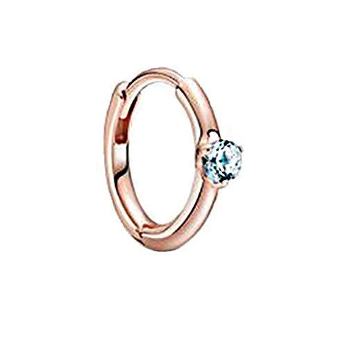 Pendientes de plata de ley 925 de moda para el Día de San Valentín, pendientes de circonita azul rosa brillante para mujer, regalo de joyería de aniversario, azul