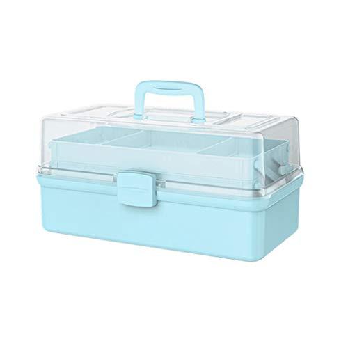 Botiquin Caja Caja de gran capacidad Médica, Medicina Caja de almacenamiento, Multi-Capa de almacenamiento de la caja, caja de primeros auxilios, azul (grande, mediano, pequeño) Botiquin ( Size : B )