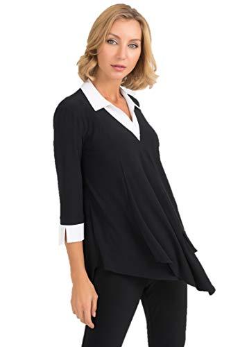 Joseph Ribkoff Black & White Tunic Style - 193415 Fall 2019 (10)