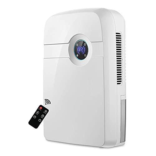 QCSMegy Deshumidificador eléctrico en seco con LCD, Mini abridor de Humedad portátil, secador de Aire de bajo Ruido con Control Remoto