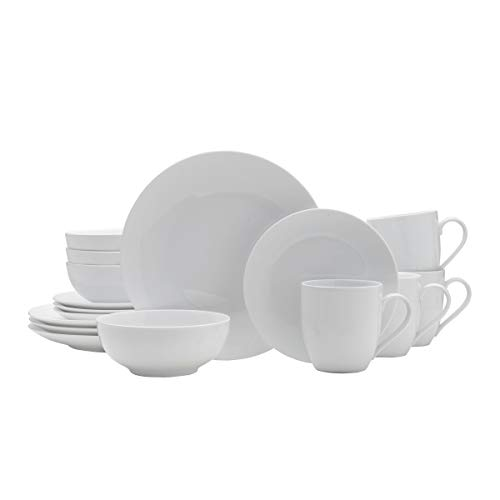 Everyday White by Fitz and Floyd 16 Piece Dinnerware Set, Service for 4