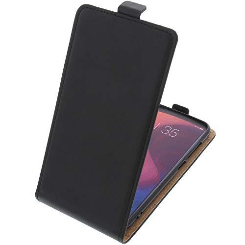 foto-kontor Funda para Lenovo K5 Play Protectora Tipo Flip para móvil Negra