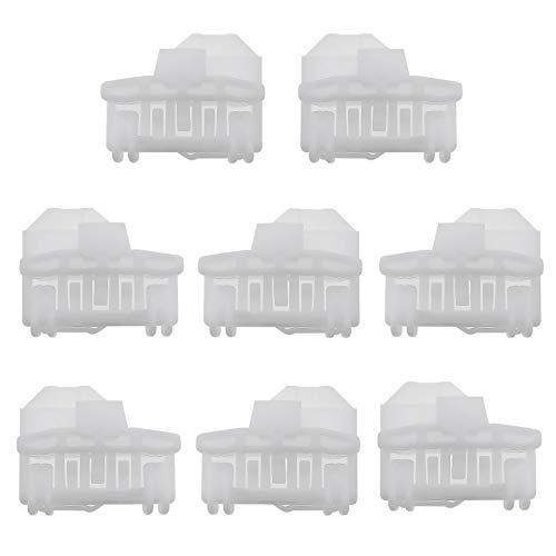 8 unids coche Elevalunas regulador reparación clip hebilla kit izquierda y derecha vidrio Lifter sujetadores 3V0837461A 8D0837399A 8D08374613B1837461