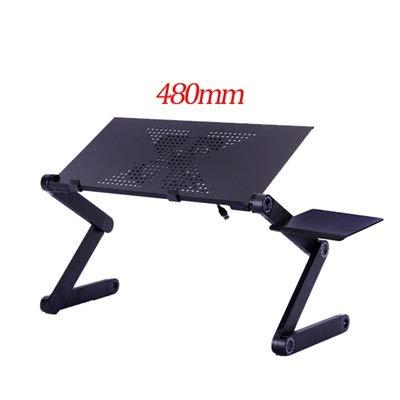 Lianganan Ordenador portátil de aluminio del soporte portátil plegable ajustable Notebook PC de escritorio ergonómico con disipación de calor del ventilador Compatible with cama de la tabla del ordena