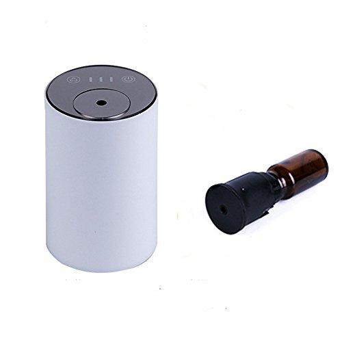 USB ricaricabile diffusore nebulizzatore olio essenziale, nebulizzatore aroma senza calore, senza acqua per soggiorno, camera da letto, auto (colore bianco)