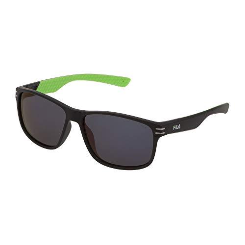 Fila gafas de sol SF9328 U28P gafas de sol de los Hombres de color Negro de la lente de humo de tamaño de 60 mm