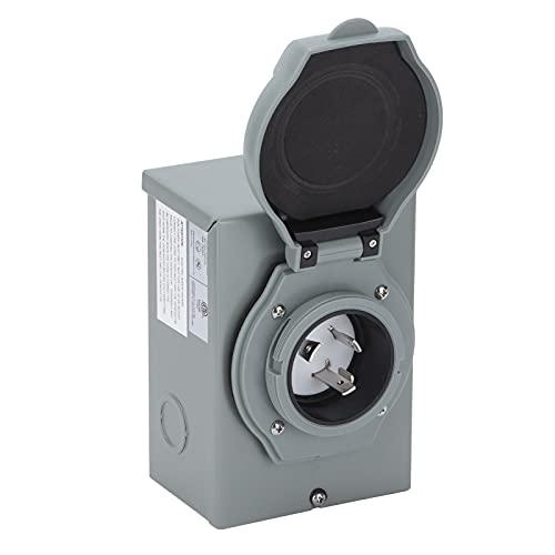 Entrada de Energía RV, Caja de Entrada de Energía del Generador RV 30A Interfaz de 3 Núcleos con Luz Indicadora LED Componentes de...