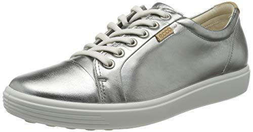 Ecco Damen SOFT7W Sneaker, Silber (Alusilver 1708), 39 EU