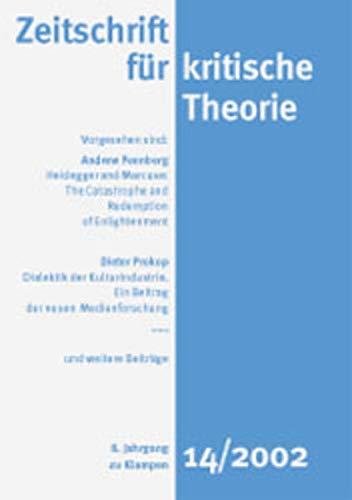 Zeitschrift für kritische Theorie: HEFT 14: 8. Jahrgang (2002)