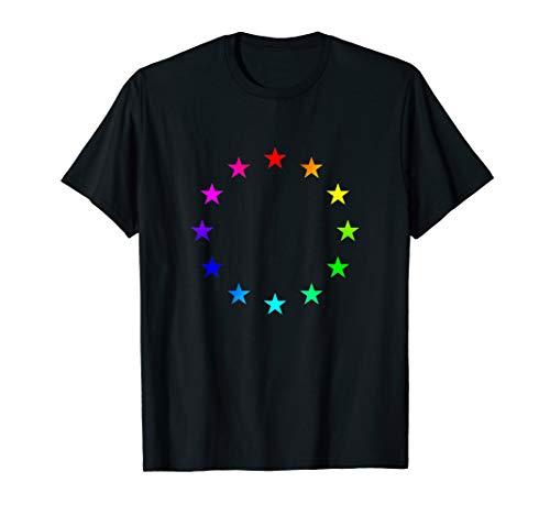 Europa Regenbogen Sterne LGBT Flagge Europäische Union T-Shirt