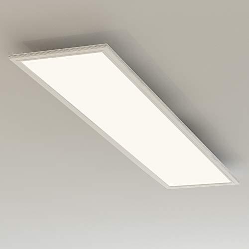 Briloner Leuchten Deckenlampe, LED Panel mit Bewegungsmelder, Tageslichtsensor, 4.100 Lumen, 4.000 Kelvin, 38W, Weiß, Kunststoff, 38 W, 1195x295x49mm (LxBxH)
