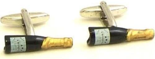 Rhodium Plated Cufflinks w/