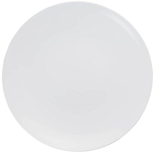 Trendables Premium 8 Inch. Trend White Disposable Plastic Plates, Food Grade Plastic Salad/Dessert Plates - 40 Pack