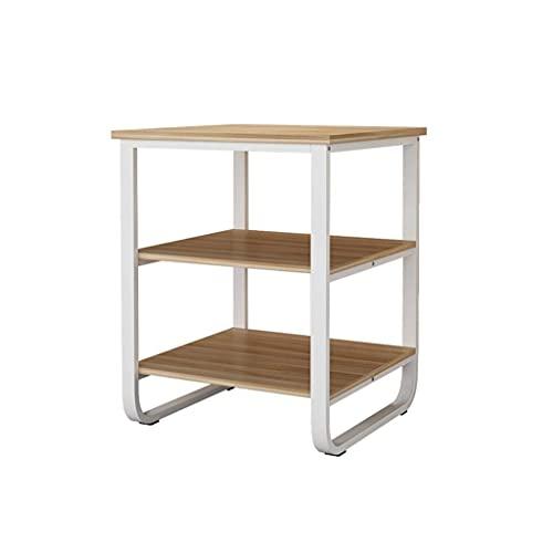 FACAZ Supporto per Stampante da Pavimento Rack di stoccaggio per Uso Domestico Rack di stoccaggio per Macchina da caff猫 Artigianato in Metallo Squisito e Pratico (Color : Wood, Size : 60 * 60 * 75cm)