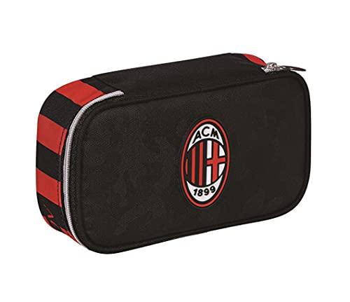 Astuccio Scuola Cross&go Quick Case Ac Milan zip completo + omaggio pallone calcio in cuoio