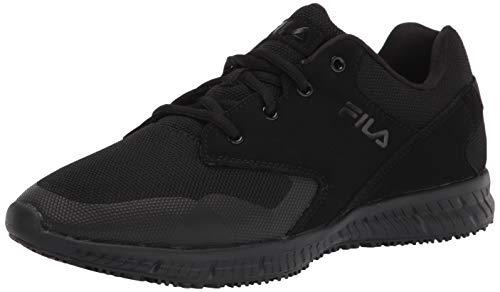Fila Women's Work Health Care Professional Shoe, BLK/BLK/BLK, 7.5