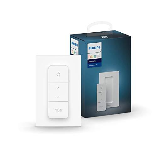 Philips Hue Dimmschalter, weiß, kabellose Lichtsteuerung, ohne Installation, stufenloses Dimmen