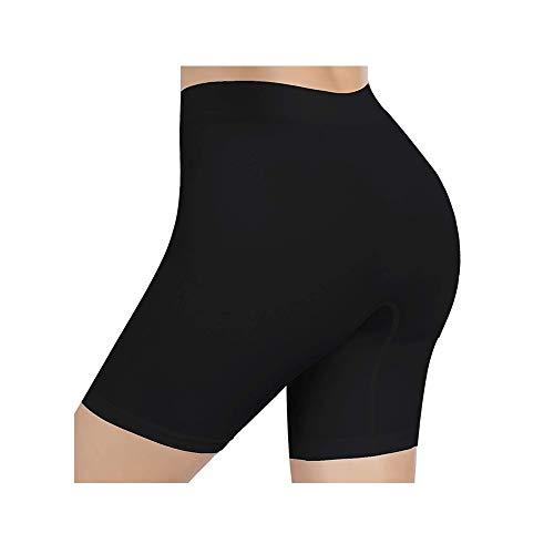 AmazingjoysDamen Unterhosen Shorts Panty Boyshort Unterwäsche Short Miederpants Miederhose Elastisch, Schwarz, (Für Taille 66-70 cm) M