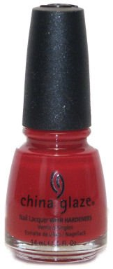 China Glaze Nail Lacquer with Hardner Lacquered Effect Salsa, 1er Pack (1 x 14 ml)