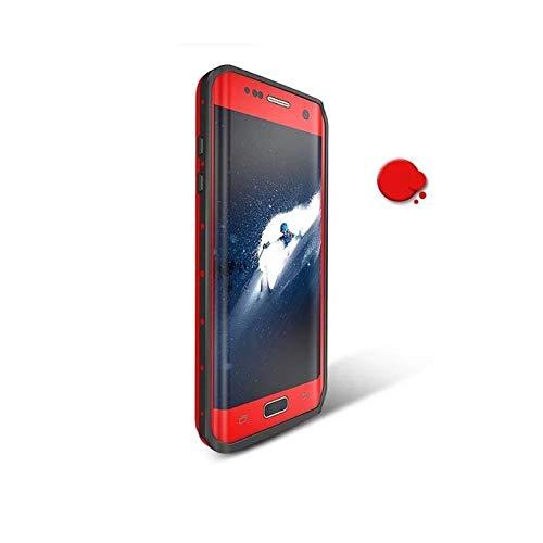 Ajuste Fit For Samsung Galaxy S7 Funda De Borde Original RedpePPPER Dot Series IP68 PC De Buceo A Prueba De Agua PC + TPU Cubierta De Armadura (Color : Red, Material : For S7 Edge)