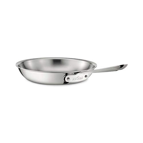All-Clad 4112 Stainless Steel Tri-Ply Bonded Dishwasher Safe Fry Pan / Cookware, 12-Inch, Silver