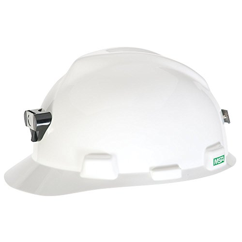 MSA 460018 V-Gard With Staz-On Suspension, Lamp Bracket and Class-C Cord Holder Cap Style Hard Hat, White, Standard