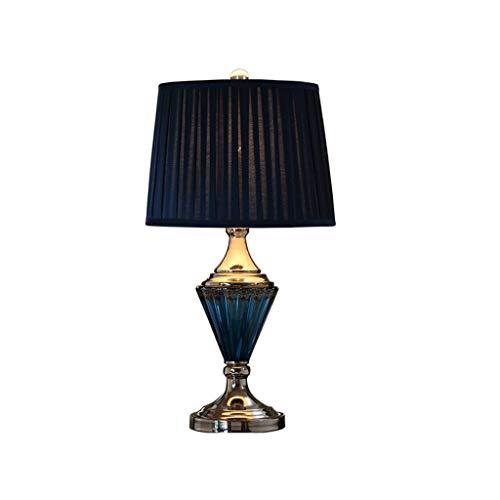 JYDQM Shade Lámparas de Mesa de Cristal Azul Helada del mar for el Dormitorio de la Sala de la Familia de Noche, 360 de iluminación
