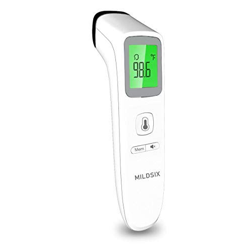 Forehead Thermometer for Fever, Digital Medical Infrared Thermometer for Baby, Kids and Adults, Non-Contact Temporal Thermometer with Instant Accurate Reading, Fever Alarm and Memory Function