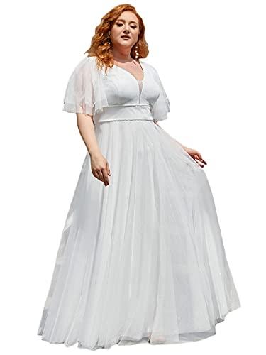 Ever-Pretty Vestido de Novia para Boda Largo para Mujer Escote en V...