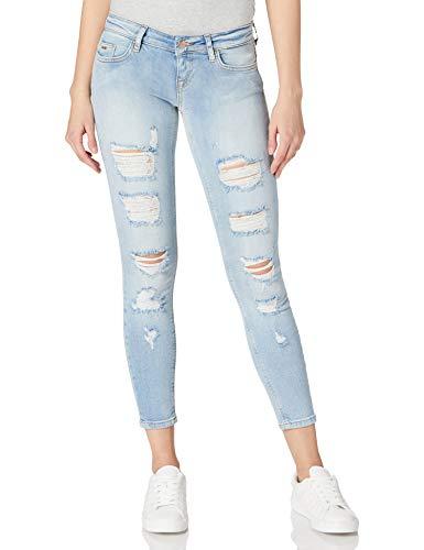 Only ONLCORAL Low SK ANK Destroy DNM, Bleu Jeans Clair, 33W x 32L Femme