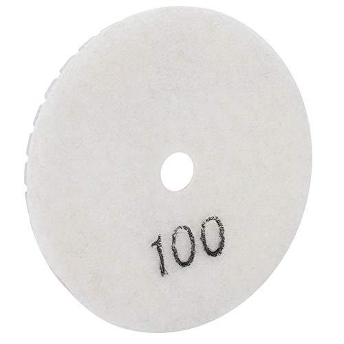 Discos de lijado blancos, kit de herramientas de polvo de diamante de grano 100