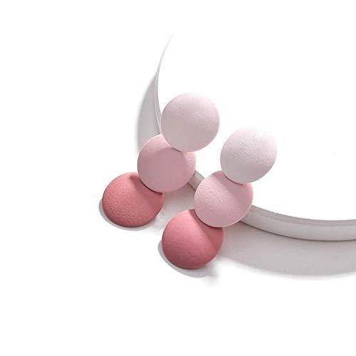 Pendientes aterciopelados en degradé rosa palo para mujer