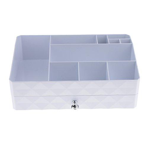MERIGLARE Double Layered Makeup Tools Aufbewahrungskoffer Display Holder Drawer Organizer Box - ABS mit Charpie
