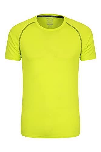 Mountain Warehouse Endurance Herren-T-Shirt - atmungsaktiv, UPF-30-Schutz, leichtes, bequemes und schnell trocknendes Oberteil - für Fitnessstudio, Reisen, Wandern Limette 4XL