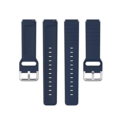MPWPQ Correa de silicona suave de color puro para reloj solar LS01, caucho deportivo, resistente al agua, correa de repuesto (color de la correa: azul marino)