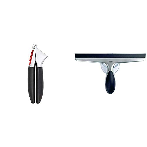 OXO Good Grips Garlic Press - Black & Good Grips Stainless Steel Squeegee