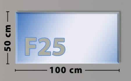 Rechteck F25 Funkenschutzplatte - Glasplatte aus Sicherheitsglas