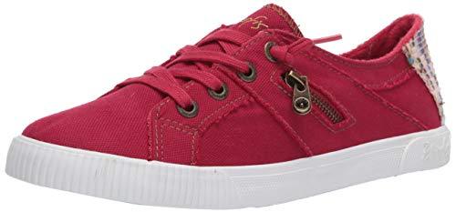 Blowfish Malibu Women's Fashion Casual Sneaker, Jester Red Smoked Canvas, 7