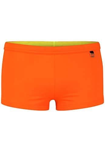HOM - Herren - Swim Shorts 'Sunlight' - Hochwertige Badeshorts in Trendfarben - Mandarine orange - XL
