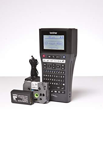 Brother PT-H500LI Beschriftungsgerät inklusive USB-Schnittstelle, Lithium-Ionen Akku und Netzadapter (für 3,5 bis 24 mm breite TZe-Schriftbänder, bis zu 30 mm/Sek. Druckgeschwindigkeit)