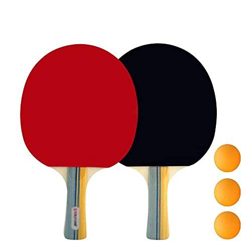 JIANGCJ bajo Precio. Paddle Ping Pong - 1 Pro Premium Table Tennis Raqueta, Raquetas y 3 Pelotas de Tenis de Mesa, Raqueta de Juegos de recreación Profesional, Mejor Raqueta de Tenis de Mesa p