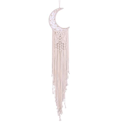 PHILSP Wall Tapestry Macrame Wall Hanging Dream Catcher Tassel Tapestry Wall Decor Room Home Decor Beige