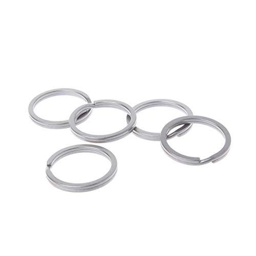 Gjyia 35mm aleación de titanio llavero círculo Split colgante hebilla viaje EDC llavero DIY