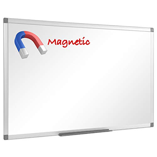"""48"""" x 36"""", Aluminum Alloy Frame, Honeycomb Core, Magnetic Dry Erase Board, White Board, Magnetic Whiteboard, Whiteboard, Magnetic White Board, White Boards for Wall, Large Whiteboard, 1 Pack"""