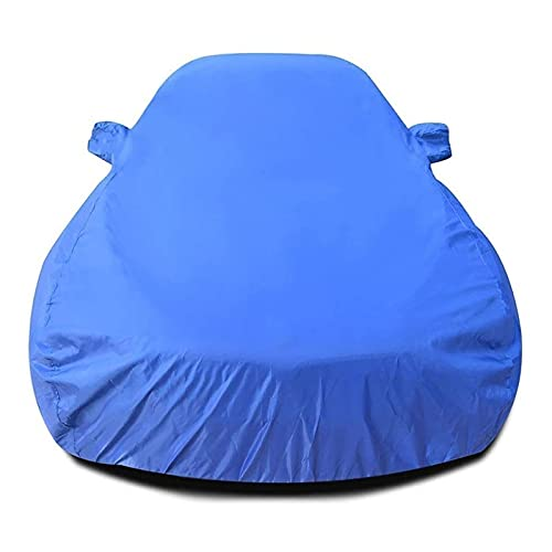 CARCOVER Cubierta Coche Impermeable Compatible con Volkswagen VW Golf Fundas para Coche Transpirable Anti-UV Resistente Rayones Una Sola Capa Lona de Coche (Color : Blue, Size : Golf)