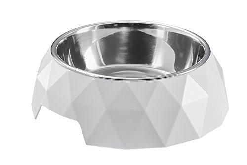 HUNTER KIMBERLEY Melamin-Napf, Futternapf, Trinknapf, für Hunde und Katzen, mit Edelstahlnapf, 700 ml, weiß