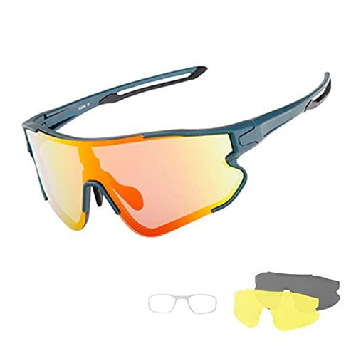 LPMA Gafas de Ciclismo,Gafas para Montar en Bicicleta al Aire Libre,Juego Intercambiable,protección UV,Gafas para Deportes al Aire Libre para miopía Masculina y Femenina