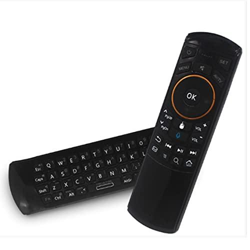 Tree-es-Life 2.4G Controlador de Teclado inalámbrico Control Remoto Air Mouse Computadora portátil de Escritorio Htpc TV-Box Teclado práctico Negro